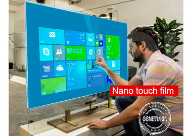 Interactive Capacitive Touch Foil Film PCAP Touch Screen Kiosk Transparent Nano Touch Wall