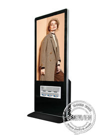 "New Advertising 55"" floor standing digital signage kiosk with wireless charger station kiosk for multi mobile phones"