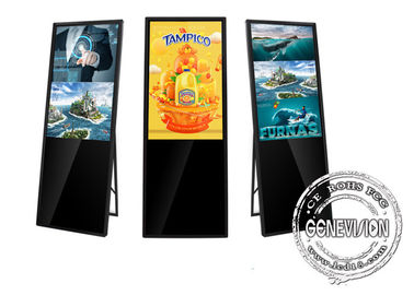"China Free Standing Interactive Signage Display 43"" Android Portable Advertising Kiosk factory"