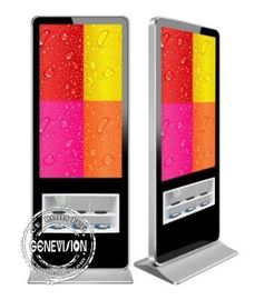 China Exclusive Design Kiosk Digital Signage 55 Inch Floor Standing 500cd/m2 Brightness factory