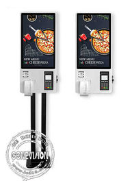 Food Ordering 27'' Interactive Touch Screen Self Service Payment Kiosk With Thermal Printer