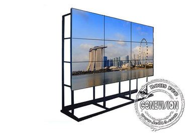 China Seamless LCD Video Wall Wifi Digital Signage 4*8 Floorstanding Cabinet 46 Inch Samsung factory