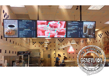 China 43inch 8mm Gap Slim Metal Shell Digital Menu Board Wall Mount LCD Screen Remote Control For Restaurant factory