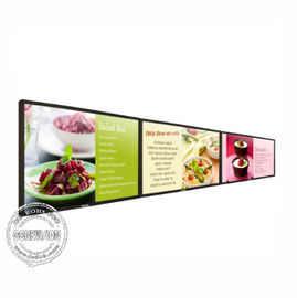 Narrow Bezel Wall Mount LCD Screen 500 Nits 43 Inch Horizontal Advertising Panel Video Wall