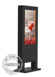 China Free Standing Outdoor Advertising LCD Display 43 Inch Waterproof Kiosk 1920*1080 factory