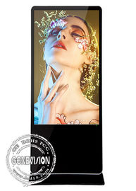 "China Floor Standing Commercial Android Lcd Digital Advertising Media Player 65"" Black factory"