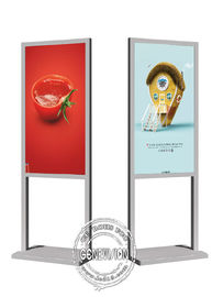 China Wifi Indoor Vertical Android Digital Signage Floor Standing Portable Lcd Advertising Totem 43 Inch factory