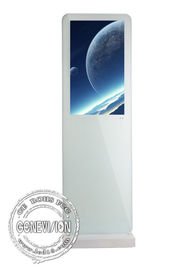 China White Android System Wifi Digital Signage Advertising Digital Totem 1920 * 1080 Resolution factory