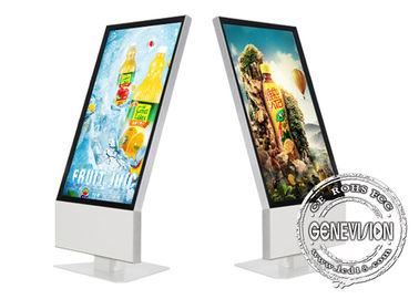 China Hotel Lobby Potrait Wifi Digital Signage Aluminum Frame 43 Inch 1080p Resolution factory