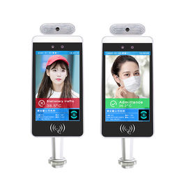 China White Wifi Digital Signage Ips Panel With Detecting Temperature And Face Recognition Camera factory