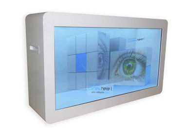 47 See Through Lcd Screen Kiosk Digital Signage , Multitouch Transparent Showcase
