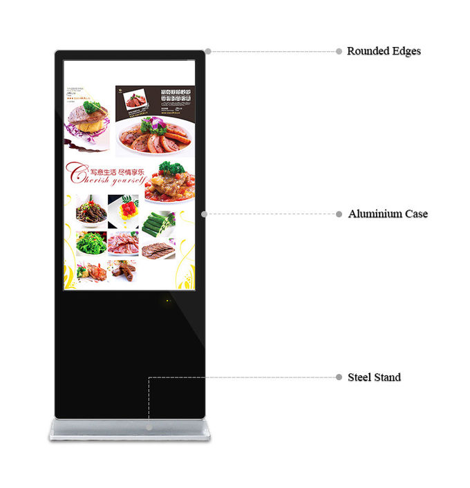 55 Inch Touch Screen Wifi Digital Signage IPhone Style Android 7.1 Advertising Kiosk